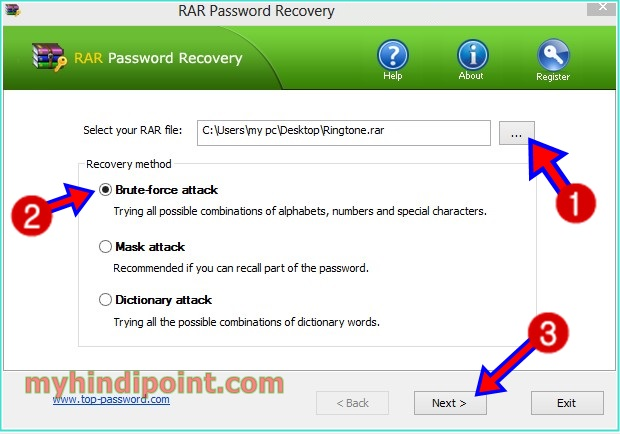 how to winrar files password remover