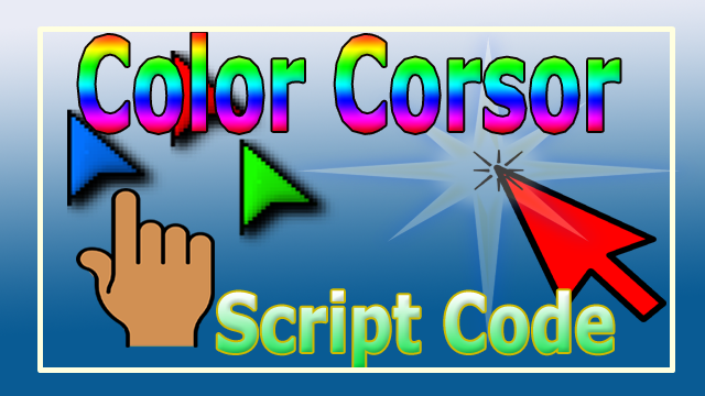 mouse corsor script code download color effect mouse pointer code