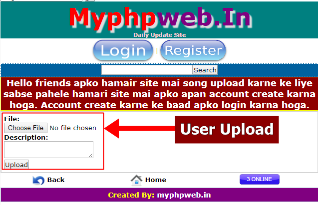 wapact website mai user file uploader kaise add kare