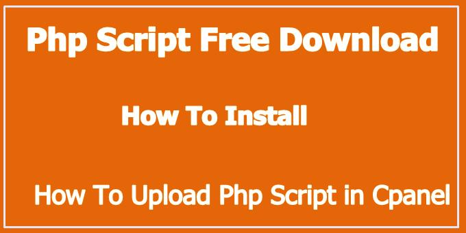 Basic php script download