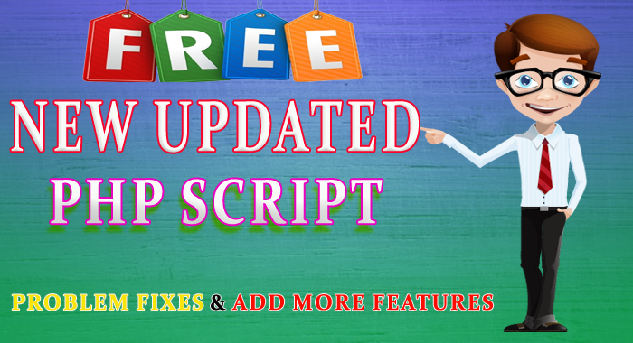 new updated php script free download not found error problem fixes