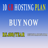 10 Gb web hosting space buy now getindiahost.com free hosting space.